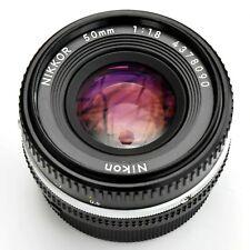 Nikon Nikkor 50mm f/1.8 AIS Pancake Man'l Fcs Lens. Exc++++. See Test Images.