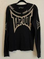Original Tapout American Arrogant Black Thermal Shirt Size M Long Sleeve