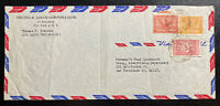 1954 Dhahran Saudi Arabia Airmail cover to San Francisco CA USA