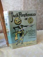 JACK PUMPKINHEAD of OZ,1929,Ruth Plumby THOMPSON,Illustrated by John R.NEILL, DJ