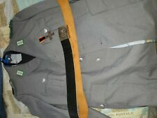 New listing German Army Bundeswehr Dress Uniform with Pants Shirt and Leather Belt Large