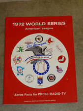 1972 WORLD SERIES MEDIA GUIDE - Oakland As -  SIGNED by JOE GARAGIOLA  ANNOUNCER