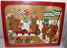 NEW Teddy Bear Parade Thick Wood Puzzle, Sarah Lee, 1983, 20 Pieces