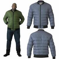 Duke D555 Mens King Size Bomber Jacket Big Tall Turner Quilted Padded MA1 Coat