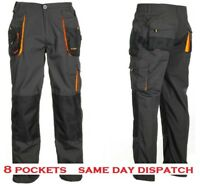 Strong Heavy Duty Cargo Work Trousers Graphite Grey Black 8 + knee pockets