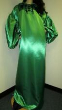 "New listing Vintage: Satin! ""Special� High Gloss Green Bridal Satin Balloon Shirt Gown"