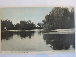 Scene on White River , Petersburg, Indiana  posted 1909