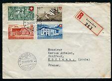 Suisse - Enveloppe en recommandé de Grenchen pour Morteau en 1946      réf F162