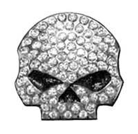 Harley-Davidson® 3D Die Cast Studded Rhinestone Willie G Skull Pin