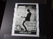 Bryan Adams concert poster Madison Square Garden Nyc - So Far So Good tour-