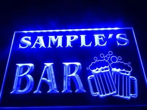 Personalized LED Neon Bar Sign Home Light Up Drink Pub Personalized Custom Name