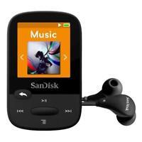 SanDisk Clip 16GB Black Sport Plus MP3 Player FM Radio Bluetooth Water-Resistant