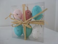 Gisela Graham Set of Six Specked Moulded Eggs in Acetate Box (5cm)