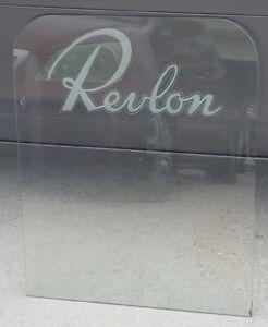 Vintage Revlon store display Glass Advertisment Hair Salon 1940s 1950 movie prop
