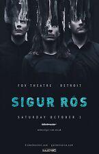SIGUR ROS 2016 DETROIT CONCERT TOUR POSTER - Experimental / Art Rock Music