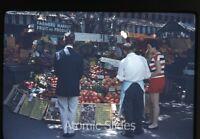 Amateur  photo slide  1950s or 1960 Los Angeles CA Farmers market #2