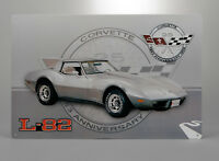 1978 Corvette C3 25th Anniversary Car Tin Metal Wall Sign GM Licensed 656902