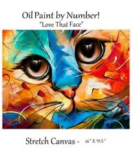 One  Kit - Abstract Cat Paint By Number Canvas (No Frame)!