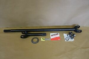 CHROMOLY AXLE SHAFT WITH NEW U JOINT 28 SPLINE LONG SIDE FRONT GM 10 BOLT