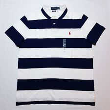 NWT MENS RALPH LAUREN S/S POLO SHIRT~SLIM FIT~NAVY~ LARGE