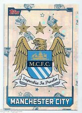 2015 / 2016 EPL Match Attax Base Card (145) MANCHESTER CITY Logo Card