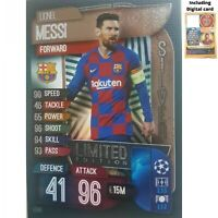 MATCH ATTAX 2019/20 LIMITED EDITION LIONEL MESSI SILVER LE5S FREE DIGITAL CODE