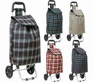Foldable Festival Shopping Trolley Luggage Bag With Strong Wheels 3 Colours UK