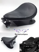 "Motorcycle Leather Seat+3"" Spring Mounting+Seat Baseplate+Bracket Set For Harley"