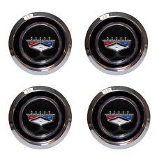 NEW! Magnum 500 Black Wheel Hub Caps Set of 4 Galaxie Fairlane Falcon Torino