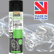 G+PRO UK High Temperature Waterproof White Spray Grease Lubricant With PTFE 1080