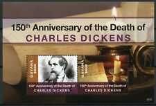 More details for guyana writers stamps 2020 mnh charles dickens memorial famous people 2v s/s
