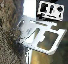 Multi Camping Tool Stainless Credit Card Survival Knife 1 1in1 Can Bottle Opener