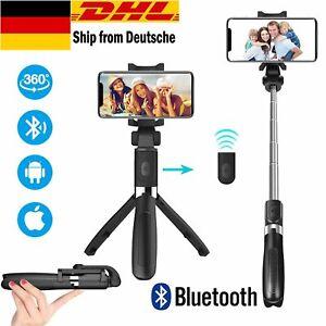 Selfie Stick Stativ mit Bluetooth-Fernauslöser Ausfahrbar 360°Rotation 3 in 1