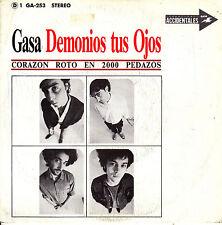 """7"""" promo DEMONIOS TUS OJOS corazon roto en 2000 pedazos 45 SPAIN 1988 CORCOBADO"""