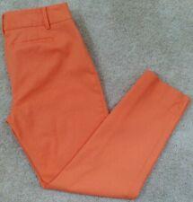 "Talbots~Woman Size 8P Petite~Orange ""Hampshire"" Ankle Pants Stretch."