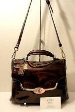 Coach Madison Patent Leather Rare Crossbody Satchel Shoulder Purse Bag Tag Charm