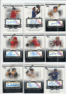 2007 Topps Moments & Milestones, 18 Autographed Cards Lot
