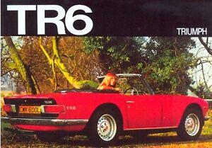 Triumph TR6 - Modern postcard by Vintage Ad Gallery