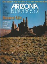 ARIZONA HIGHWAYS ~ March 1993 Monument Valley on Horses