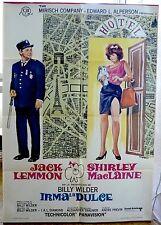 IRMA LA DOUCE Billy Wilder movie poster Spanish 1969 LEMMON NICE PARIS MAP ART
