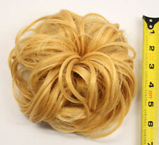 7'' Scrunchie Puff Elastic Butterscotch Blond Cosplay Wig Hair Bun Accessory NEW