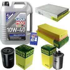Inspection Kit Filter Liqui Moly Oil 5L 10W-40 for VW Caddy II Kombi 9K9B 1.9