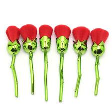 6 Stk Rose Pinsel Professionelle Make up Kosmetik Brush Makeup Set Schminkpinsel