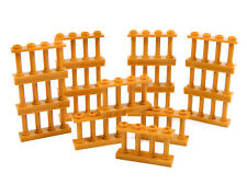 LEGO barred PEARL GOLD fence 2x4 (pack of 16) police castle palace bars window +