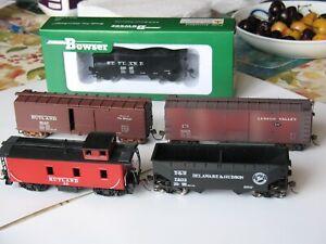 Rutland Railroad HO caboose boxcar hopper; D&H hopper; Lehigh Valley boxcar