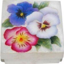 PANSY  ~ CAPIZ SHELL TRINKET BOX                    1224