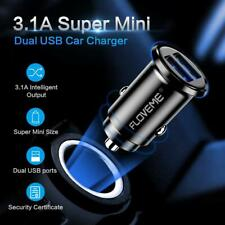 FLOVEME Mini Dual USB Car Charger Auto Vehicle 3.1A Fast Charging Adapter Tablet