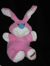 "Fisher Price Vintage 1999 Rumple Bunny Rabbit Pink Plush Toy 14"" Floppy"