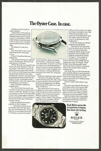 ROLEX . The Oyster Case. In Case. - 1971 Vintage Nat Geo Print Ad