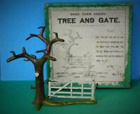 BRITAINS FRANCE DEPOSE VINTAGE 1910 BOXED LEAD HOME FARM SERIES #7F TREE & GATE